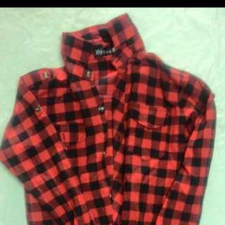 Red Checkered Polo