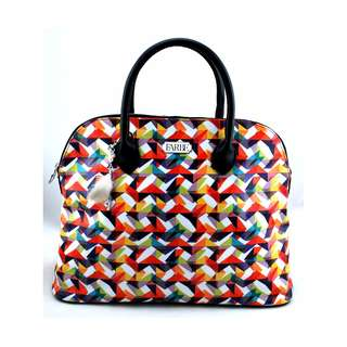 Jagged Diamonds Dome Satchels BAG