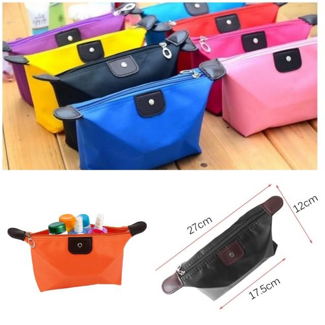 現貨 韓版糖果色時尚簡約防水化妝包 零錢包 水餃包 袋中袋 包中包 鉛筆袋 外出小包