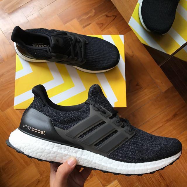 58aafb4b03dc2 Adidas Ultra Boost 3.0 Black White