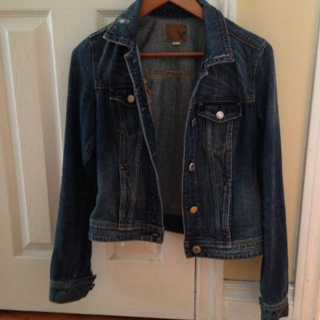 American Eagle Lightly Distressed Jean Jacket