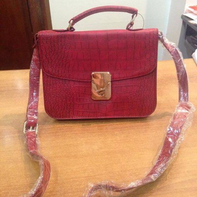 Authentic F21 Croc Skin Satchel