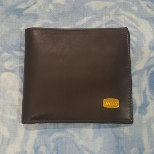 BALLY Mens Bifold Wallet with Coin Compartment