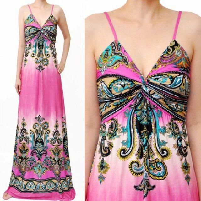 Bangkok pink maxi dress