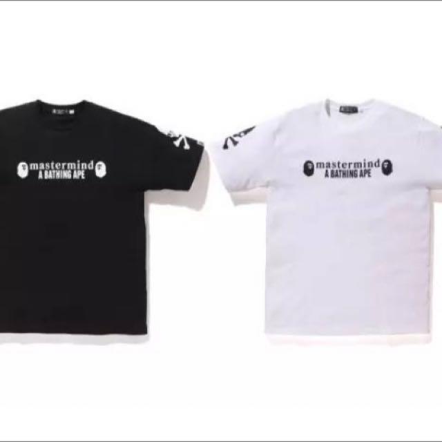 3c1fbcfee Bape x mmj Tee Shirt A Bathing Ape x Mastermind Japan, Men's Fashion,  Clothes on Carousell