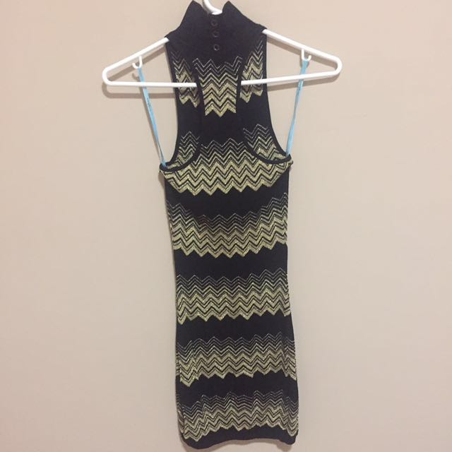 Black and gold Fall dress marciano