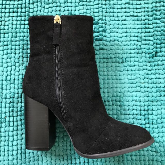 Black ankle boot - closed toe