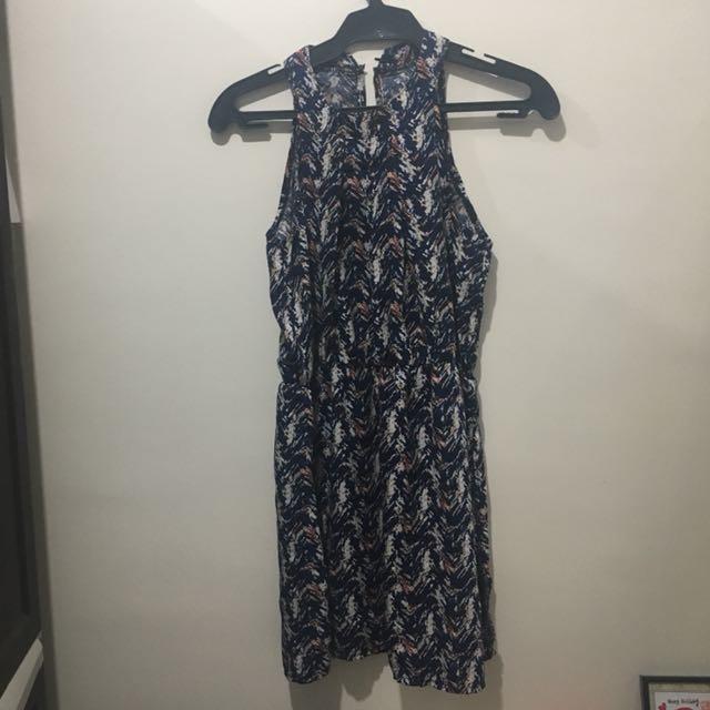 77e964bc9170 Blue halter dress