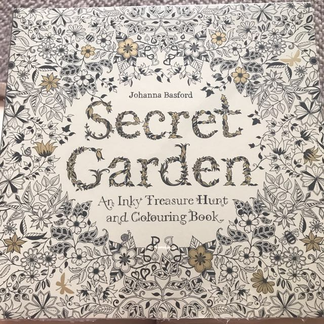 BN Secret Garden Colouring Book By Johanna Basford Design Craft