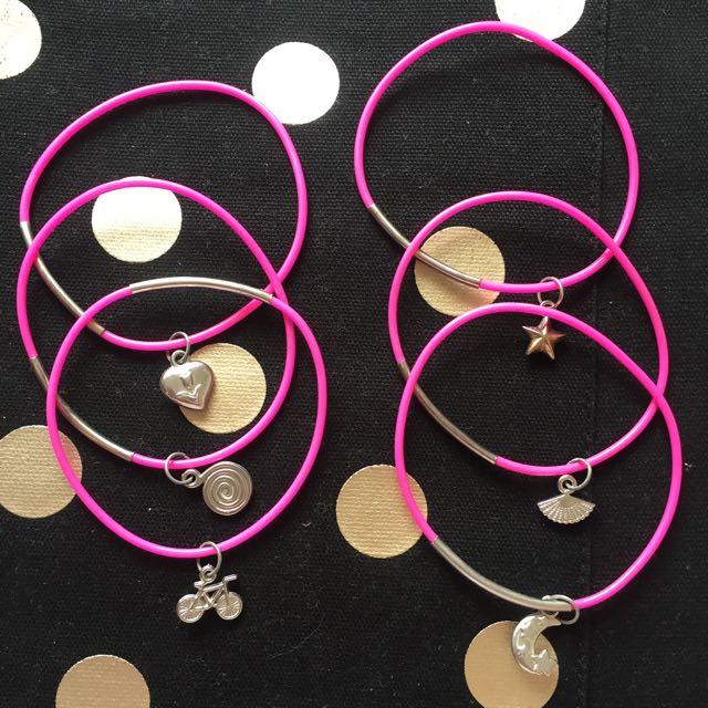 Bundle of Charm Bracelets (6)