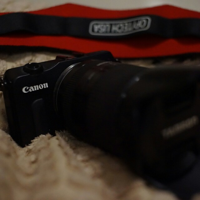 Canon EOS M, with Tamron Lens 18-200mm