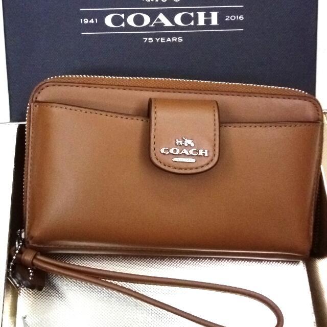 Coach 全新正品附購證~ 手機手拿包【專櫃款】