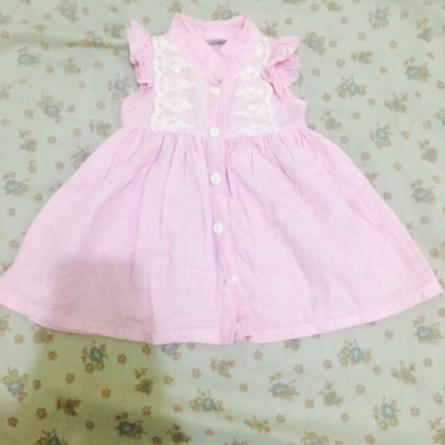 Crib couture baby pink dress
