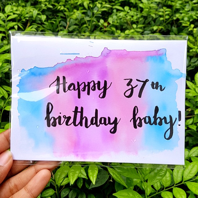 Customized Birthday Cards Watercolour Calligraphy Home Services