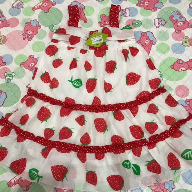 dress ank strawberry baru