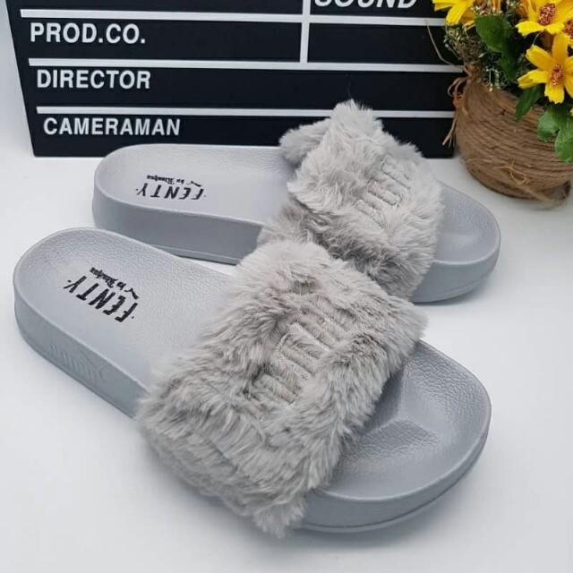 Fenty furry sandal