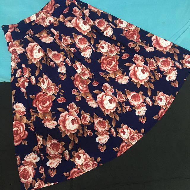 Flowery Skirt - Rok Rempel Motif Bunga