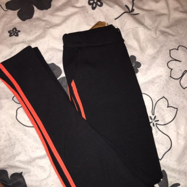 fluro orange jeggings / tights