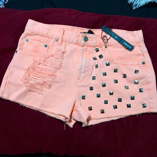 Forever21 Coral Highwasted shorts