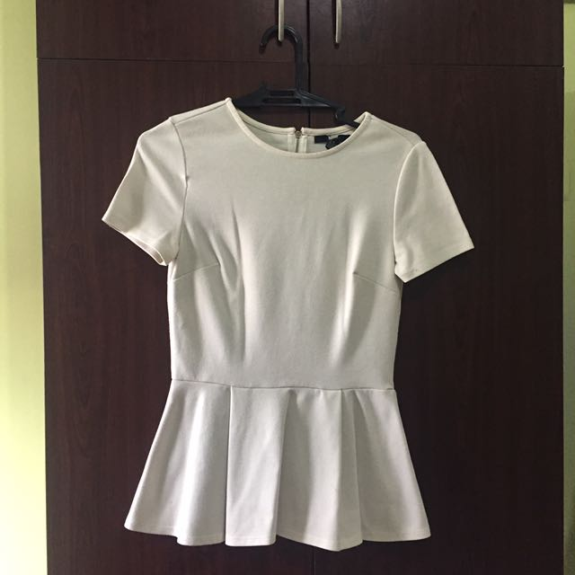 Forever21 Peplum White Top