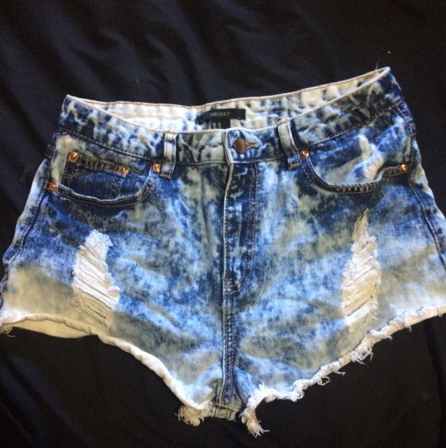 Forever 21 Distressed Jean Shorts