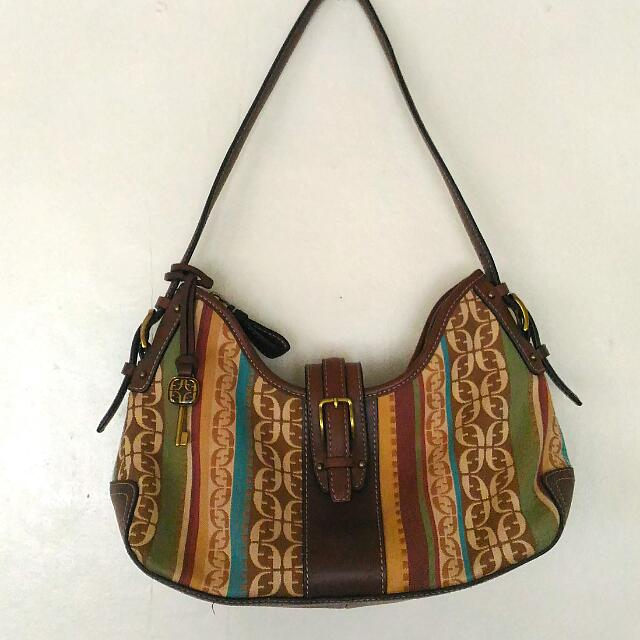 SALE! Fossil Hobo Bag w/ Bag Charm (Key)