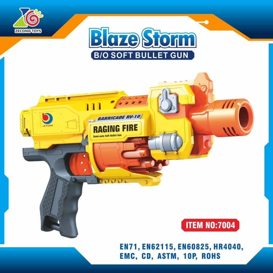 G7004 Blaze Storm Raging Fire Automatic Soft Bullet Gun Toys Games Other On Carousell