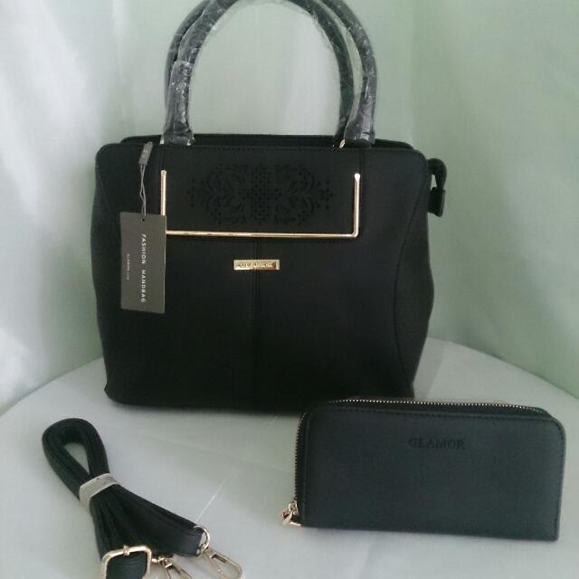 Repriced! Glamor Bag with Sling and Wallet