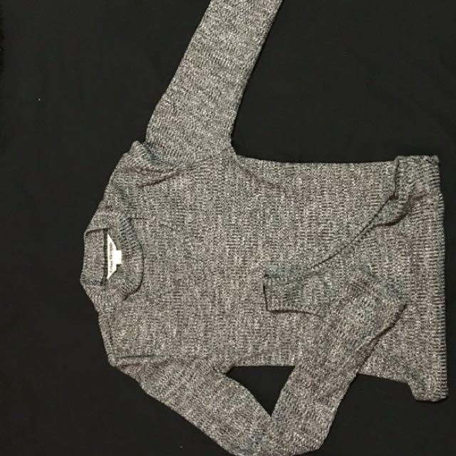 Grey Choker Style Bodysuit