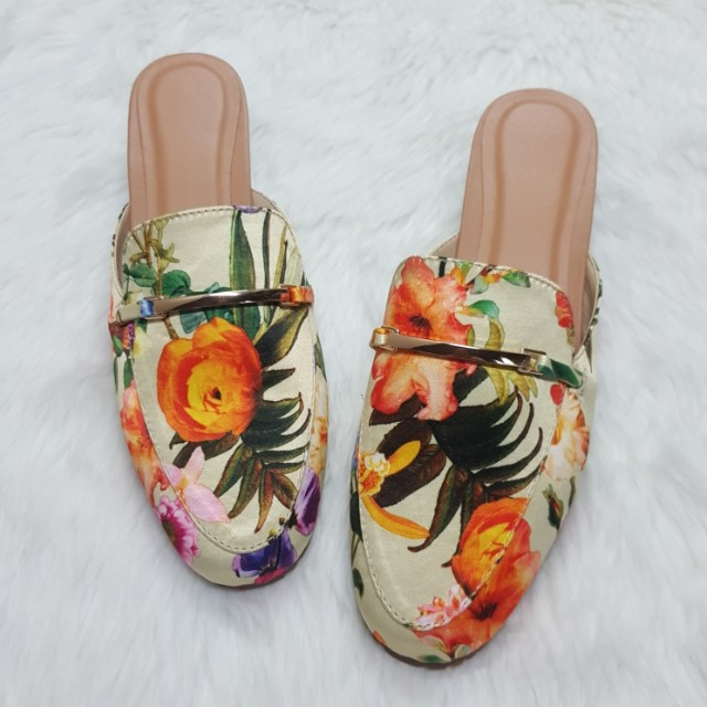 Gucci inspired floral mule