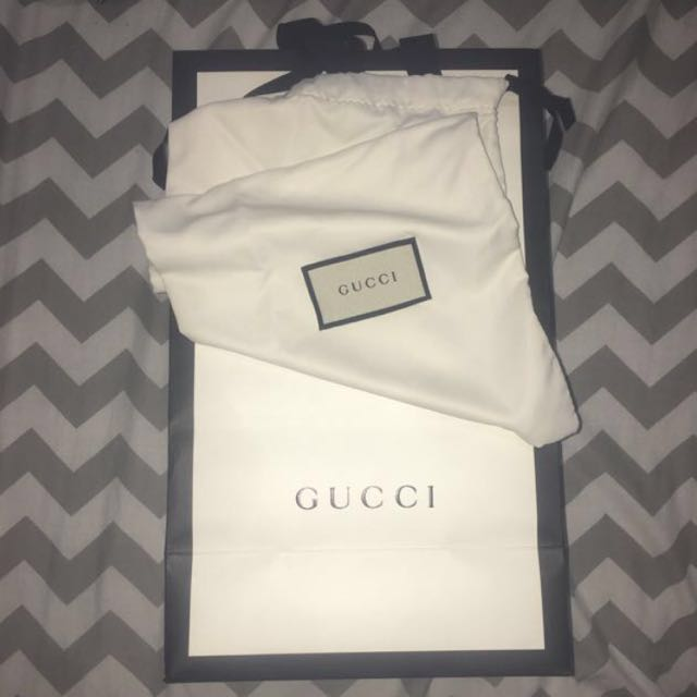 b3a2acdb5 Gucci paper and dust bag, Luxury, Bags & Wallets on Carousell