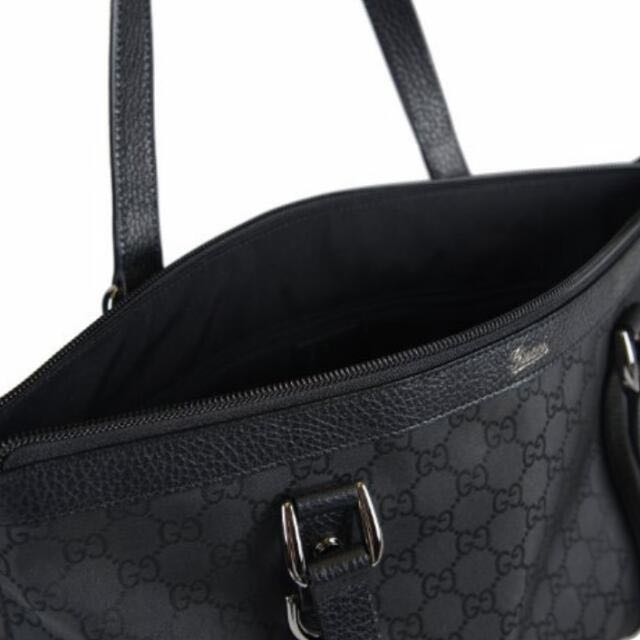 345df65f7 Gucci Women Black Canvas Leather-trimmed Handbag, Luxury on Carousell