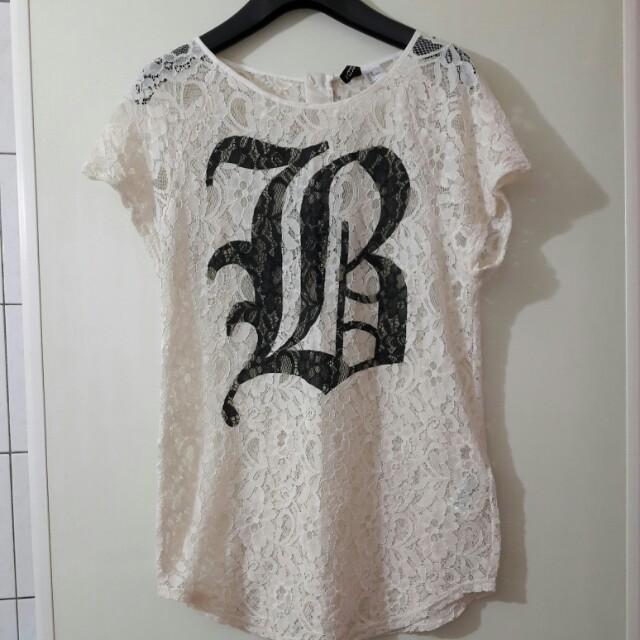 H&M蕾絲上衣(含運)
