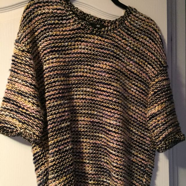 h&m three quarter sleeve knit sweater