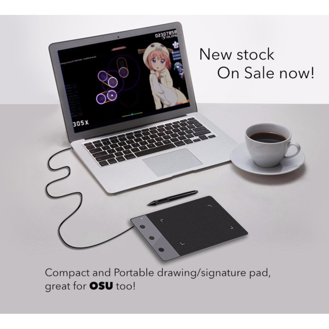 Huion H420 drawing/signature pad also great for a game of