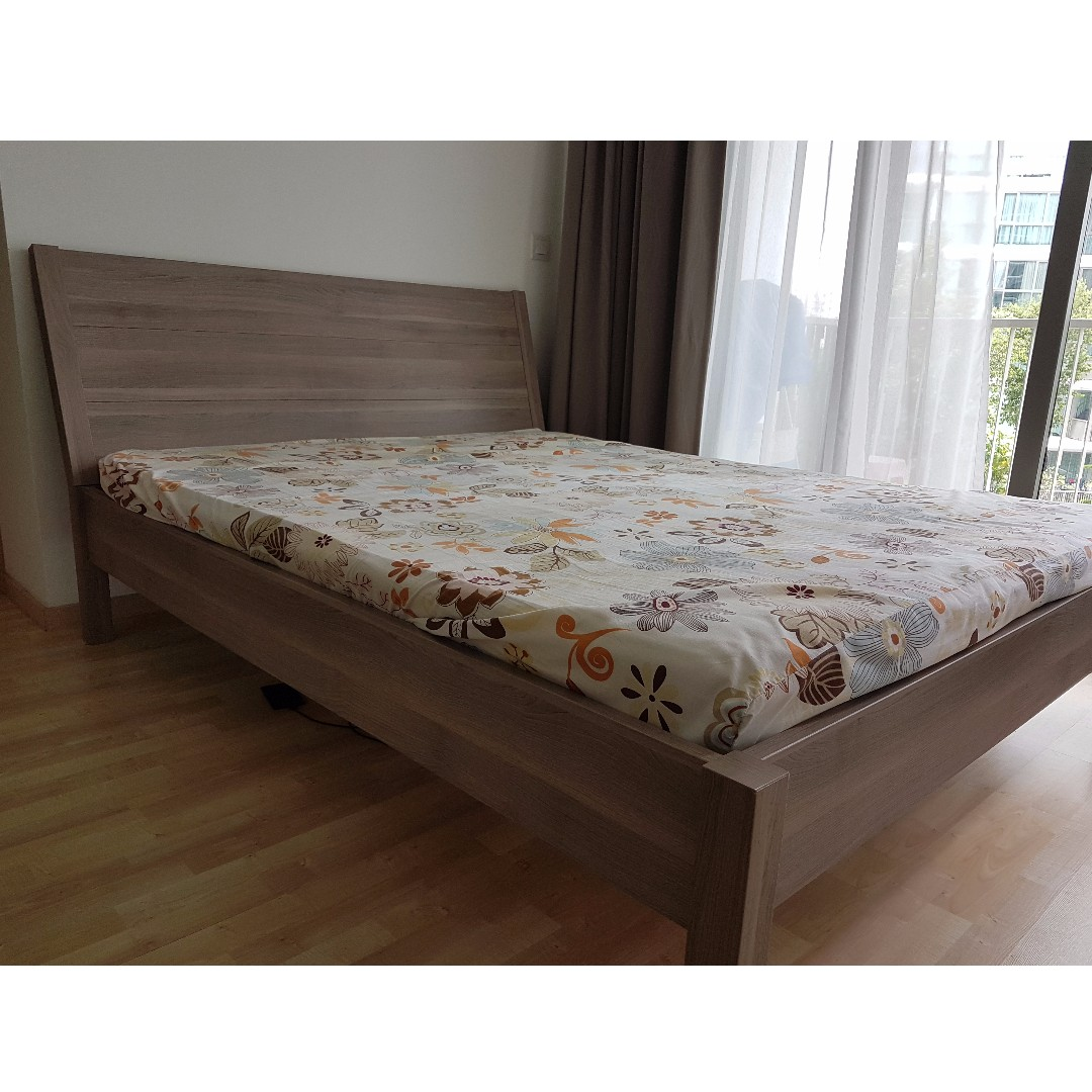 Ikea Nyvoll Queen Size Bed Frame