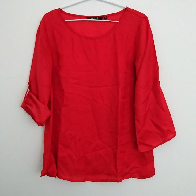 Invio Red Blouse