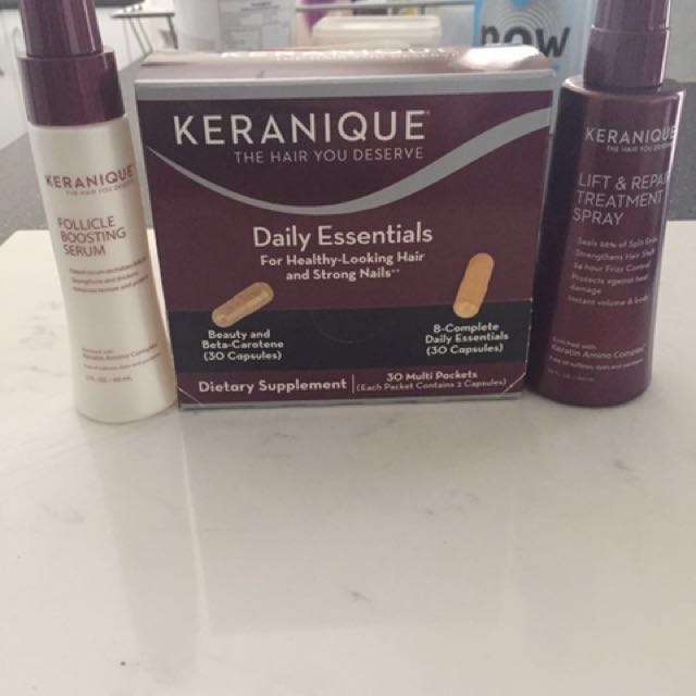 KERANIQUE HAIR TREATMENT AND VITAMINS
