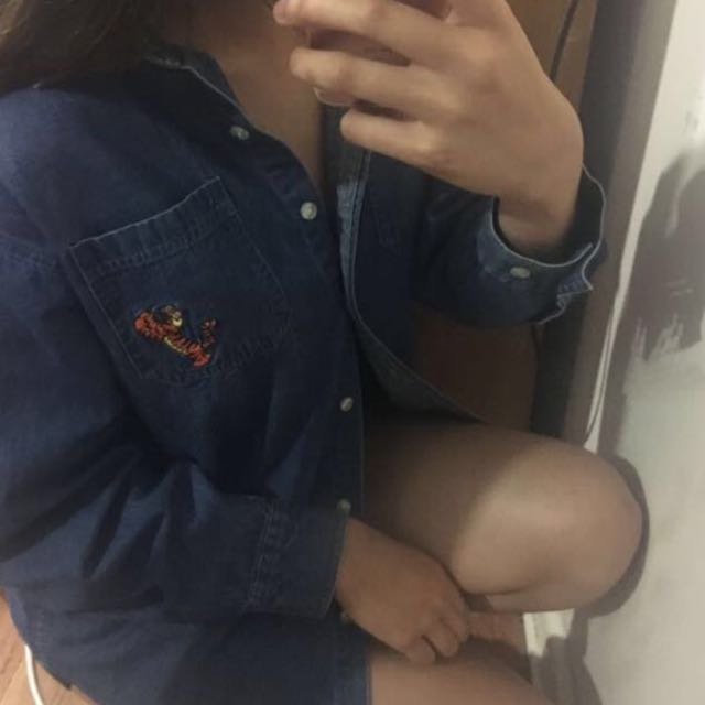 Korean Style Disney Denim Outerwear