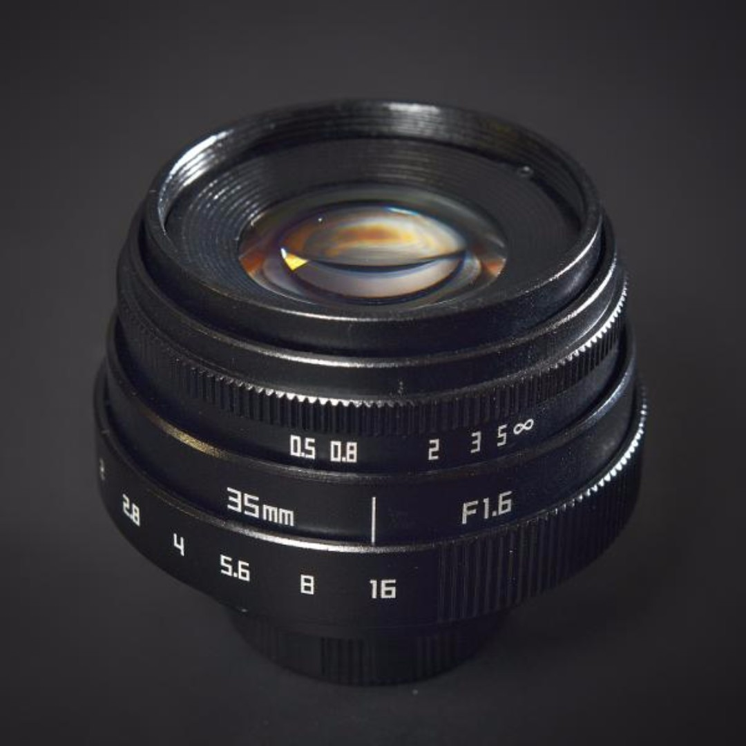 Lensa Mirrorless Fujian 35 mm F1.6 New Model + Adapter +  Hood