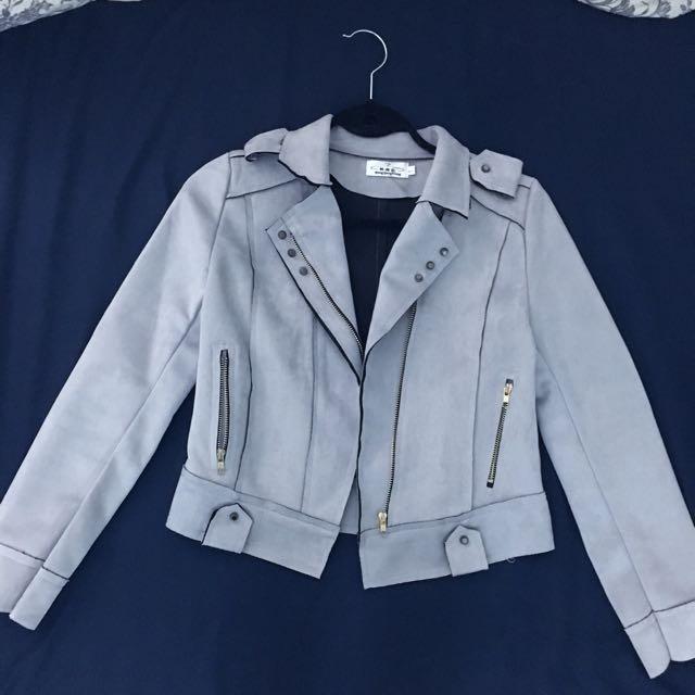 Light Grey Moto Jacket