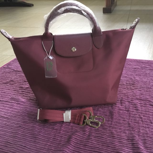 Longchamp Bag - maroon color - replica