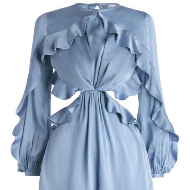 Luxe Range BNWT Lou Winsome Flutter Silk-Satin Playsuit *ZIMMERMANN Style (RRP $255-495)🇦🇺