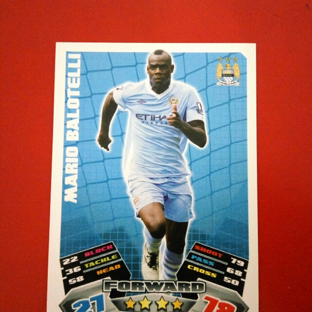 official photos 00a89 d2d9b Match Attax Mario Balotelli Manchester City, Toys & Games ...
