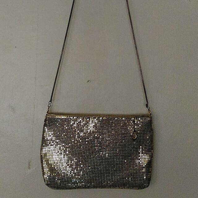 Metallic Gold Purse/ Sling Bag