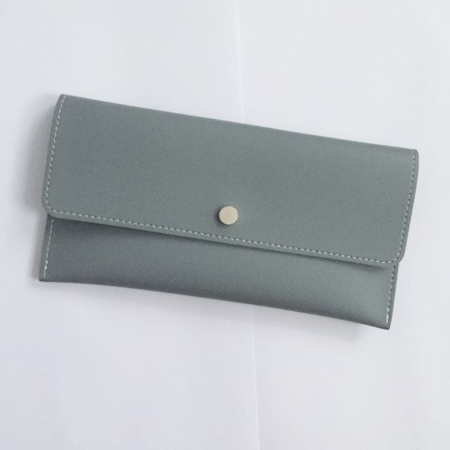 MINISO simple long wallet (soft blue)