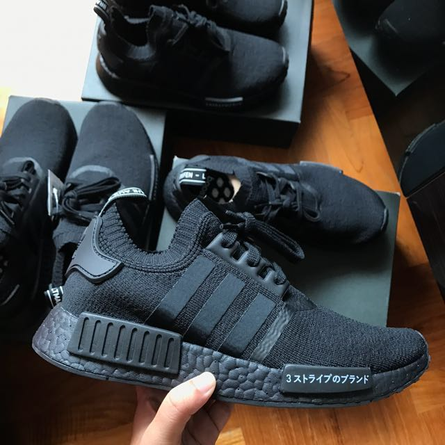 ForOffice | adidas nmd r1 primeknit japan triple black singapore