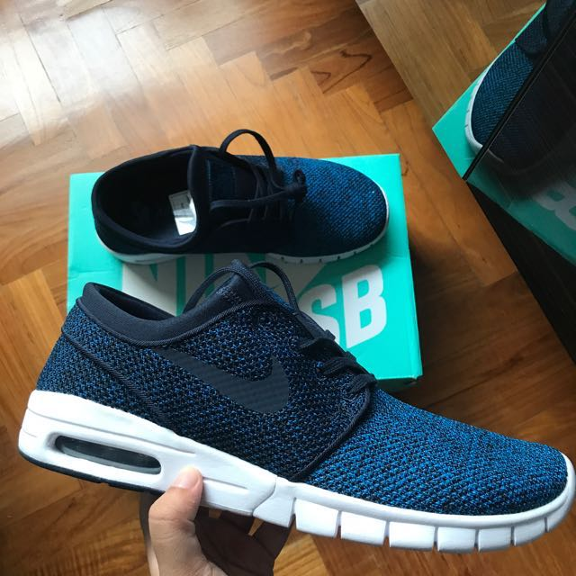 new product 810a3 7d4aa Nike SB Stefan Janoski Air Max Industrial Blue, Mens Fashion