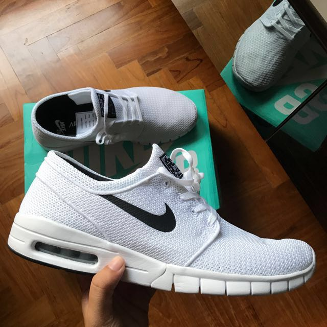 00fc45726f Nike SB Stefan Janoski Air Max White/Black, Men's Fashion, Footwear on  Carousell