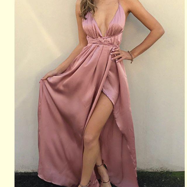Pink maxi dress RENT